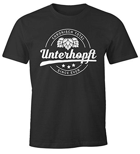 Chronisch Unterhopft Total Herren T-Shirt Since Ever Fun-Shirt Moonworks® Unterhopft anthrazit