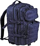 Mil-Tec, US Assault Pack - Zaino grande, taglio laser, Uomo donna unisex, Us Assault Pack, - Dark Blau, 51 x 29 x 28 cm, 36 Liter