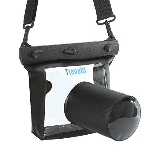 20M Unterwasser Kameratasche Unterwasserkamera Hülle Unterwasser kameragehäuse für DSLR SLR Canon 6D 600D 650D Nikon D7100 D5200 D5100 D3200 (Schwarz, M)