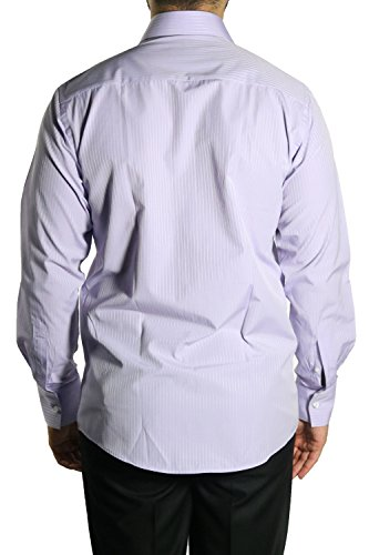 MUGA Homme Chemise à manches longues Lila clair