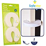 Safestor Finger Pinch Guard (Pack of 2, White). Baby Safety Door Stopper, Preventer, Prevents Injuries, Slamming Doors and Child,Babies,Kids or Pet for Home