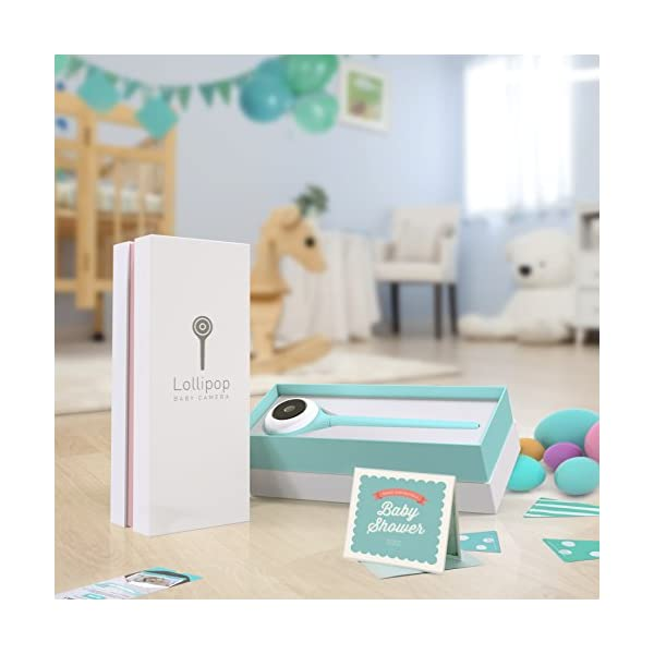 Lollipop - Smart Baby Monitor (Turquoise)  [Short Live Feed Latency] - 1 second latency with good WIFI signal under same WIFI, generally  7