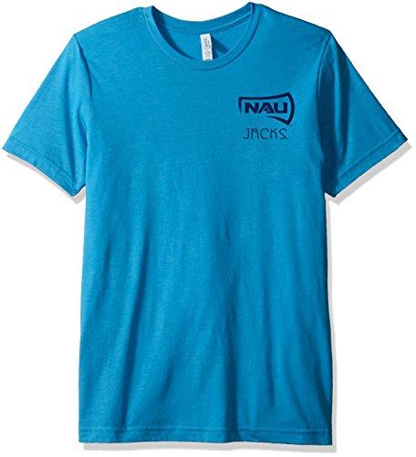 Image One NCAA Northern Arizona Holzfäller-T-Shirt für Erwachsene, Azteken-Muster, quadratisch, kurzärmlig, Trimix, Größe XL, Aqua -