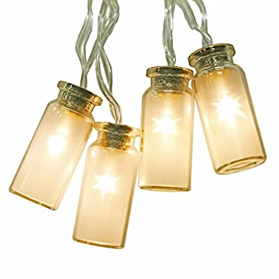 NEW - 8 Modes Vintag Glass Jar LED Fairy Lights With 20 Warm White LEDs-- Battery Operated (Waterproof IP44) - cheap UK light store.