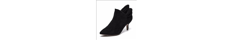 KHSKX-6 5Cm Negro Punta De La Edición Coreana Satén Zapatos De Mujer Se Desglosa Como Sigue En El Medio Silvestre... -
