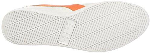 Diadora Unisex-Erwachsene Game L Low Waxed Pumps, 36 EU Multicolore (C5937 Bianco/Arancio Tropicale)