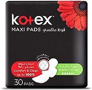 Kotex Maxi Pads Super Wings Wings, 30 Pads