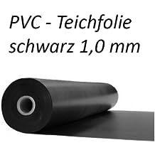 Teichfolie PVC Schwarz, 1,0mm Breite 2 m