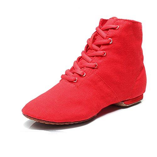 Stiefel Jazz/ Hi-Soft Ballerina Schuhe/Body Bodybuilding Übung Leinenschuhe für Damen und Herren A