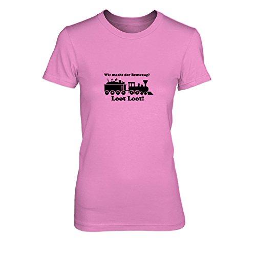 Beutezug - Damen T-Shirt, Größe: L, Farbe: pink (Dark Assassin Kostüm)