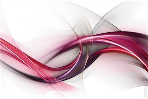Artland Qualitätsbilder I Wandtattoo Wandsticker Wandaufkleber 90 x 60 cm Abstrakte Motive Muster Streifen Digitale Kunst Bordeauxrot D3HO Elegant Design - Abstrakte Kunst-muster