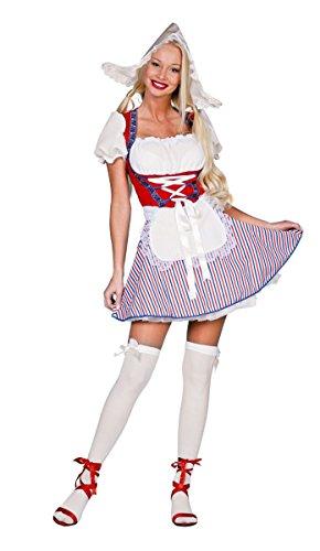 Holländerin Kostüm - Damen Kostüm sexy Holländerin Dirndl Karneval Fasching Gr.38