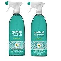 Method Naturally Derived Foaming Bathroom Cleaner Spray, Eucalyptus Mint, 28 FL Oz Twin Pack (28 x 2, Total 56 Oz)