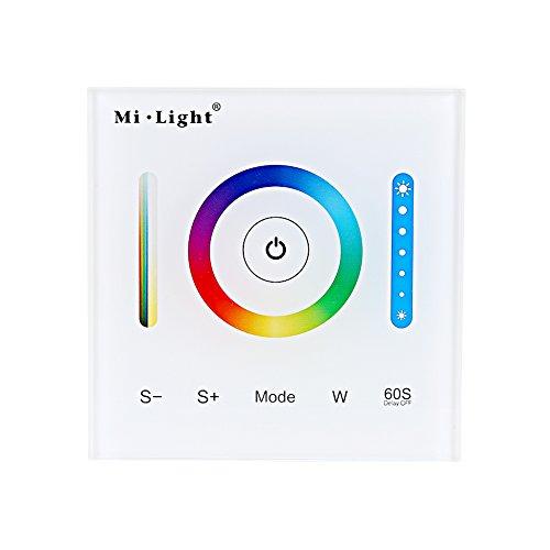 Milight Wand Touch Panel LED Controller für RGB / RGBW / RGB + CCT Farbwechsel LED Streifen Licht mit DC 12-24V