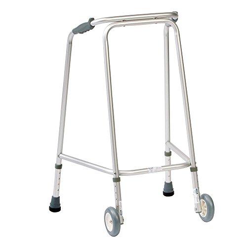 NRS Healthcare-Deambulatore con ruote, regolabile in altezza