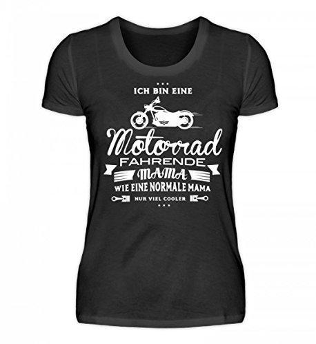 irt - Biker Mama T-Shirt/Coole Mama Shirt/Motorrad und Bike/Motorradfahrerin/Lustige Sprüche/Hoody/Geschenken/Geschenkidee (Biker-mama)