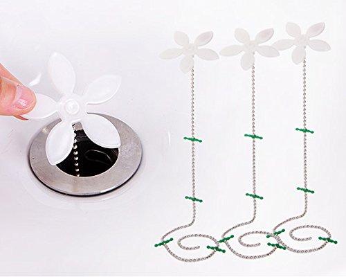 Abflusskette, Haarentferner für Küche oder Badezimmer, 10 Stück