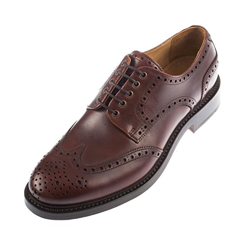 john-spencer-rugby-da-uomo-in-pelle-con-lacci-brogue-scarpe-marrone-brown-415
