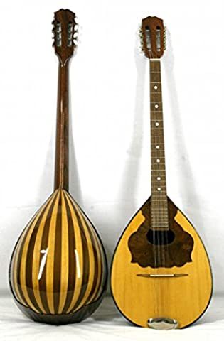Musikalia Luthery Greek Bouzouki, in Mansonia walnut and maple, soundboard purfled and inlaid - electrified - LEFT-HANDED