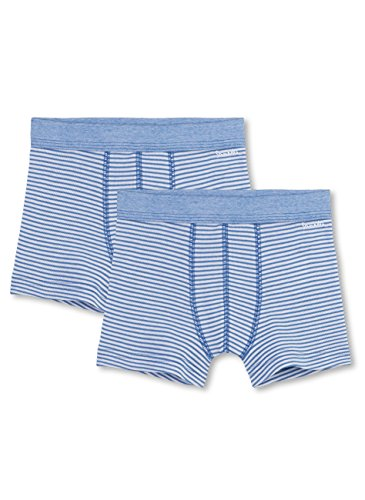 Sanetta Jungen Pants 333580, 2er Pack, Blau (riviera 50094), 92