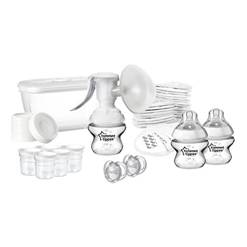 Tommee Tippee Closer to Nature Breast Feeding Kit – Transparent/White 41EhJF7ArxL