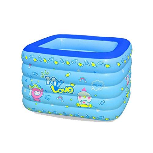 ZY YZ Kinderpool Pool Aufblasbare Badewanne Infant Pool Badewanne Badewanne Eimer Faltbare Badewanne (Farbe : Blau)