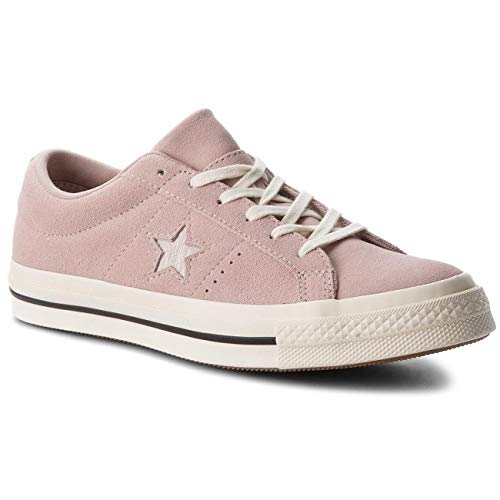 Converse Lifestyle One Star Ox, Zapatillas Unisex Adulto, (Diffused Taupe/Silver/Egret 055), 38 EU