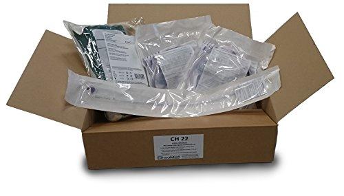 CH 16 Monatsversorgungsset zur ableitenden Inkontinenz: 2x Urinbeutel + 1x Silikon Dauerkatheter CH 16 + 1x Legeset
