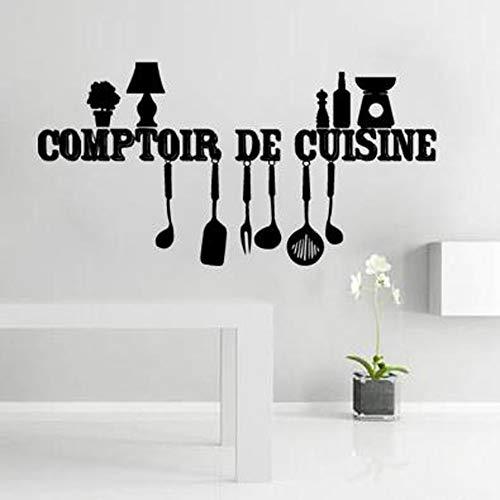 Französisch Küche Zähler Kunst Aufkleber Restaurant Küche Abnehmbare Vinyl Wandaufkleber Diy Wohnkultur Wasserdichte Tapete (Bildungs-zähler)