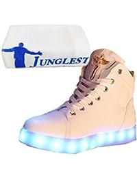 (Present:kleines Handtuch)Golden 37 EU JUNGLEST Sneaker Farbe Leuchtend Damen 7 Aufladen LED USB Sport mode Turnschuhe Herren für Unise eWIwGm