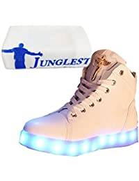 (Present:kleines Handtuch)Golden 37 EU JUNGLEST Sneaker Farbe Leuchtend Damen 7 Aufladen LED USB Sport mode Turnschuhe Herren für Unise