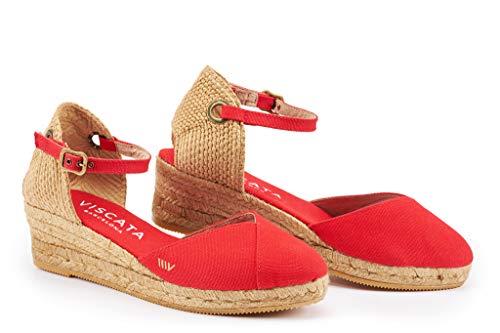 Viscata Espadrilles-Sandalen , rot - Rot - Größe: 41 EU (Sandalen Rote Plattform)