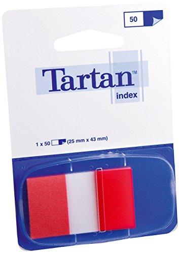 Tartan 6805-1EU Haftstreifen Index (50 Blatt, 25,4 x 43,2 mm, 12 Spender mit 50 Streifen) rot