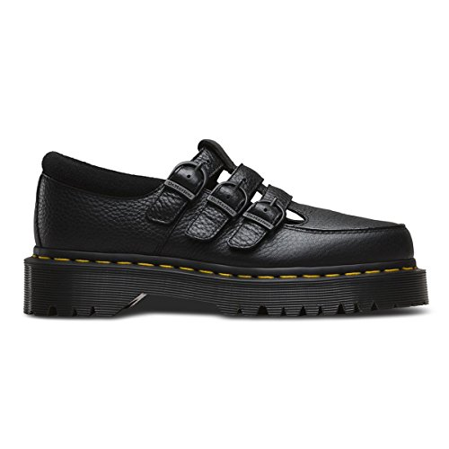 b76d5b11432 Dr.Martens Womens Freya Aunt Sally Black Leather Shoes 40 EU