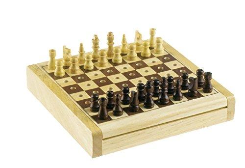 Reise Schach/Chess Holz-Steckspiel