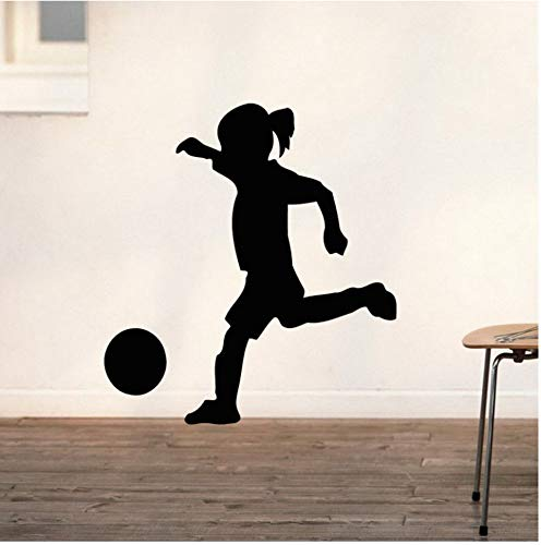 Fußball Mädchen Aufkleber Kind Sport Fußball Aufkleber Kind Poster Vinyl Wandtattoos Pegatina Quadro Parede Decor Wandbild Fußball Aufkleber 105C116Cm - 6551 Vinyl
