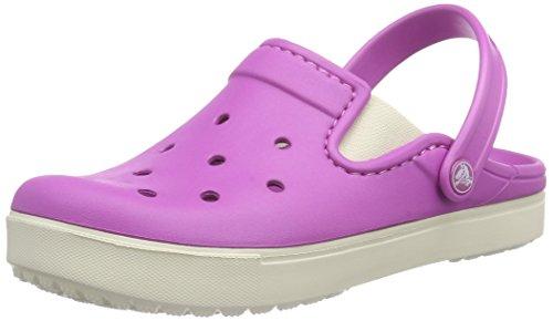 Crocs CitiLane Clog, Unisex - Erwachsene Clogs, Pink (Wild Orchid/Stucco), 39/40 EU