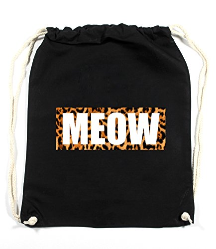 Meow Leo Sac De Gym Noir Certified Freak
