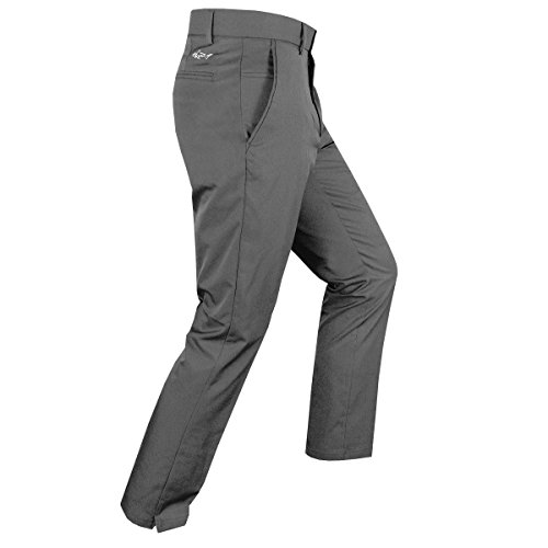 Stretch-golf (Greg Norman Golf 2018 Herren Hybrid Modern Tapered Fit Pro Stretch Golfhose Grey 32x32)