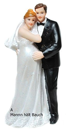 paar, Hochzeit Dekoration   Brautpaar Schwanger   edel   15 cm (A - Mann hält Bauch) (Schwanger Bauch Dekorationen)