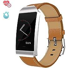 GOKOO Reloj Inteligente Mujer, Smartwatch Deporte Fitness Tracker Reloj de Fitness Impermeable IP67 con Pulsómetros