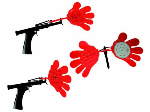 Fliegenklatsche Pistole Hände