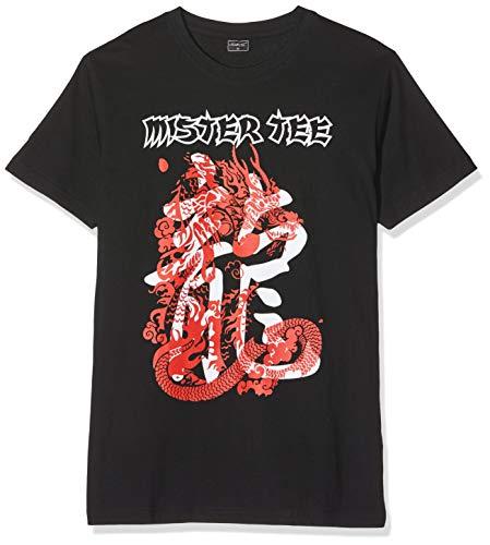 Dragon Gerippte T-shirt (Mister Tee Herren Dragon T-Shirt, Black, L)