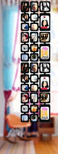 Trendfinding 1,63 m Set Fotos Bilder Raumteiler Rahmen Collage Fotowand Kartenwand Fotovorhang Fototaschen Fotogalerie Kunststoff Fotohalter Espresso