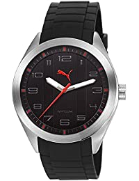 Pace Puma Unisex Armbanduhr PH4900-C-PH01T Analog PU Strap PU103321004 Schwarz