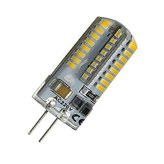 Aoxdi 5X G4 5W LED Spotlight Bulb, Warm White, 64 SMD 3014 LED Crystal Lamp, AC220-240V, LED Light G4