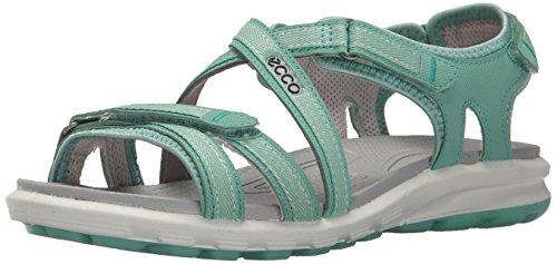 Ecco 841553_Anderes Leder Sandali da Atletica da Donna,  Multicolore (GRANITE GREEN00254), Taglia 37 EU