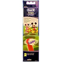 Braun Oral-B Stages Power Kids Aufsteckbürsten Micky Maus 2er Pack Bürstenköpfe Kinder EB10-2K Mickey Mouse