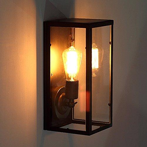 Wandun Villaggio Industriale Americano Illuminazione In Ferro Battuto Passerella Retrò Lampada Da Parete