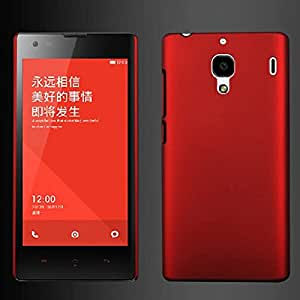 Rishabh Exports Matte Finish Back Case Cover For Redmi 1S (Red) With Screen Guard